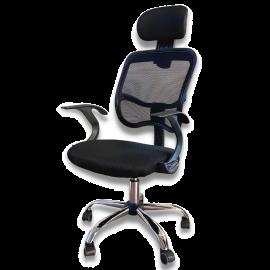 Sedia ufficio Poltrona con braccioli in Tessuto traforato traspirante direzionale regolabile Girevole Operativa ergonomica studio