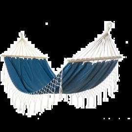 Amaca da Giardino Azzurra Design Macramè in Poliestere - 200x100x300