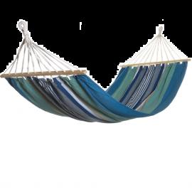 Amaca da Giardino Sospesa per Esterno in Cotone e Poliestere Multicolor Blu 200x100h