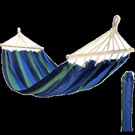 Amaca da Giardino per Esterno Larga e Leggera in Cotone con Supporto in Legno Multicolor 80x200