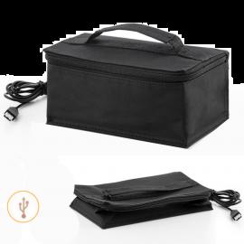 Borsa Termica Porta Pranzo Rettangolare Alimentazione USB cavo di 2mt  21x9x13