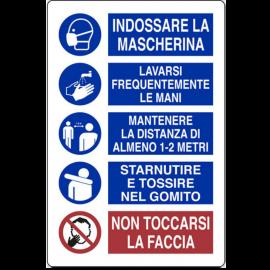 Cartello per Regole Generali di Sicurezza, 20x30 in Plastica – 3 PZ.
