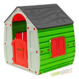 Casetta Da Per Giardino Gioco Esterno Bambini Casa In Resina Con Giochi X Bimbi