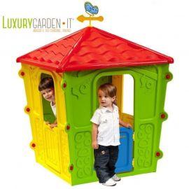 Casetta Gioco Da Giardino Per Esterno Bambini Casa Con Giochi X Bimbi In Resina