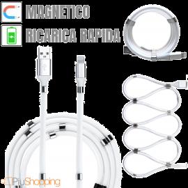 Cavo Magnetico USB Lightning per Ricarica Rapida 1 Metro Iphone 7 8 X XS MAX XR 11