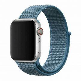 Cinturino Apple Watch Serie 5 4 3 2 1 in Nylon Tessuto Sport 44 42 40 38 mm Blu