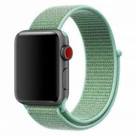Cinturino Apple Watch Serie 5 4 3 2 1 in Nylon Tessuto Sport 44 42 40 38 mm Verde Acqua