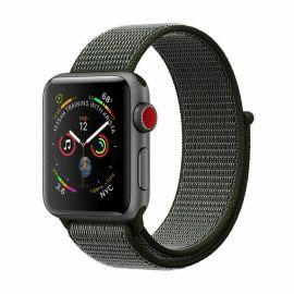 Cinturino Apple Watch Serie 5 4 3 2 1 in Nylon Tessuto Sport 44 42 40 38 mm Grigio