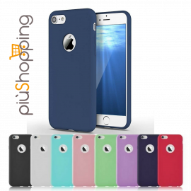 IPHONE 7 8 COVER CUSTODIA MORBIDA TPU GEL SILICONE PER APPLE SLIM VARI COLORI