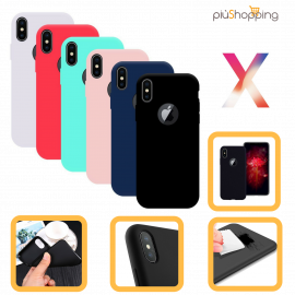 IPHONE X COVER CUSTODIA MORBIDA TPU GEL SILICONE PER  APPLE SLIM VARI COLORI