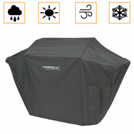 Custodia Barbecue Campingaz in PVC Rettangolare Traspirante Resistente al Sole e Pioggia 122x61x105