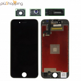 IPHONE 6s PLUS NERO TOUCH SCREEN LCD DISPLAY RETINA FRAME PER APPLE VETRO SCHERMO NERO