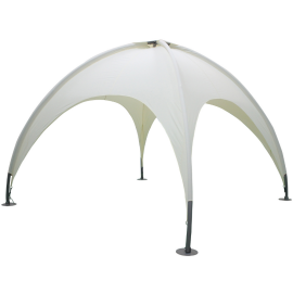 Gazebo da Giardino 3,5x3,5x2,7 Design Igloo Struttura in Alluminio Top in Poliestere Ecrù