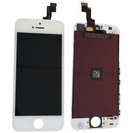 IPHONE 5S TOUCH SCREEN LCD DISPLAY RICAMBIO RETINA PER APPLE  VETRO SCHERMO BIANCO + FRAME