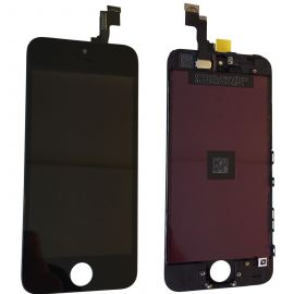 IPHONE 5S TOUCH SCREEN LCD DISPLAY RICAMBIO RETINA PER APPLE  VETRO SCHERMO NERO + FRAME