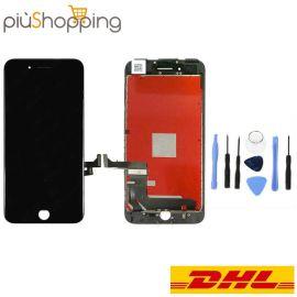 IPHONE 7 PLUS NERO TOUCH SCREEN LCD DISPLAY RICAMBIO RETINA FRAME PER APPLE  VETRO SCHERMO NERO