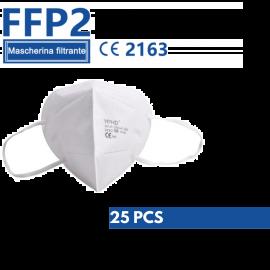 Mascherine Protettive FFP2 Certificate CE Monouso Bianche Senza Valvola 25 PZ