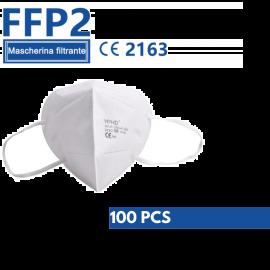 Mascherine Protettive FFP2 Certificate CE Monouso Bianche Senza Valvola 100 PZ
