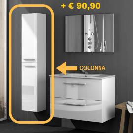 COLONNA BAGNO BIANCO: cm. 30x26x140 h.