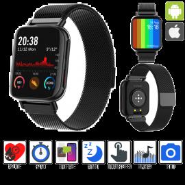 Orologio Smartwatch Sport iOS Android Cardiofrequenzimetro Fitness Tracker