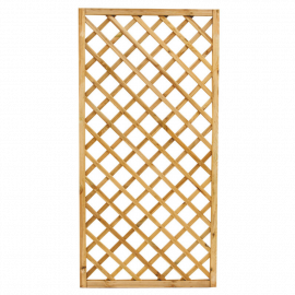 Pannello Grigliato in Legno per Giardino Balcone Terrazzo per Rampicanti Alta Recinzione Rettangolare 90x180h