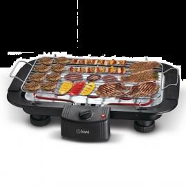 PIASTRA GRILL ELETTRICA DA BALCONE BBQ DA TAVOLO 2000W RISCALDANTE PORTATILE RETTANGOLARE (38 X 22 CM) NERO