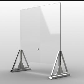 Schermo Parafiato Plexiglass Protettivo Trasparente,da Banco Tavolo e Scrivania 65x65h