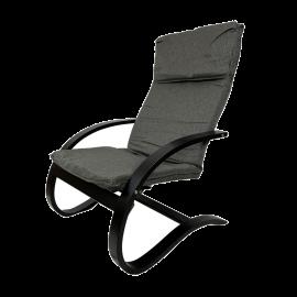 Poltrona Dondolo Imbottita per Interno Design Moderno 82x67x94h Grigia