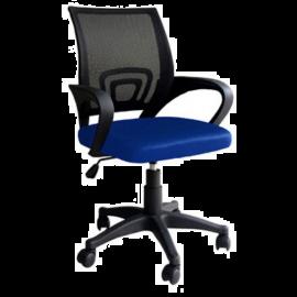Sedia da Ufficio Blu Ergonomica Lombare, con Braccioli, Girevole e Regolabile, Traspirante, Operativa 50x58x96