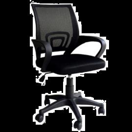 Sedia da Ufficio Nera Ergonomica Lombare, con Braccioli, Girevole e Regolabile, Traspirante, Operativa 50x58x96