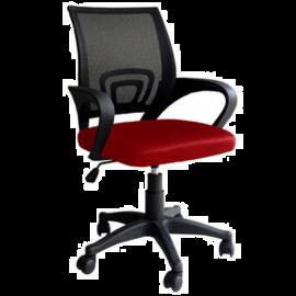 Sedia da Ufficio Rossa Ergonomica Lombare, con Braccioli, Girevole e Regolabile, Traspirante, Operativa 50x58x96