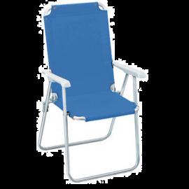 Sedia Sdraio Pieghevole per Esterno Portatile in Tela e Acciaio Azzurra  52x45x85h