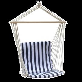 Sedia Sospesa da Giardino con Supporto in Legno Design Rigato 60x130h
