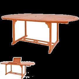 Tavolo da Giardino Allungabile, in Legno d'Acacia, da Esterno – 200x100x74h Marrone