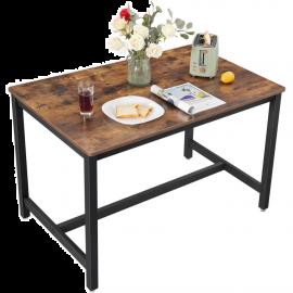 Tavolo da Pranzo Moderno in Legno Stile Industriale  120x75x75h