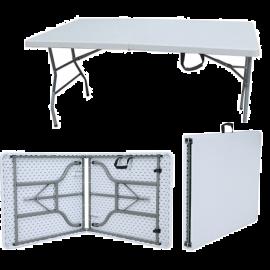 Tavolo a Valigetta Pieghevole Richiudibile Bianco da Giardino Picnic 183x76x74h