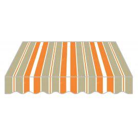 Tenda da Sole a Caduta per Balcone Frangivento e Parasole in PU 300x250 Arancione e Grigio