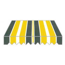 Tenda da Sole a Caduta per Balcone Frangivento e Parasole in PU 300x250 Verde e Giallo