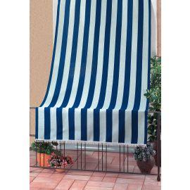 Tenda da Sole per Balcone Terrazza Design Rigato 100% Poliestere 140x250h Blu