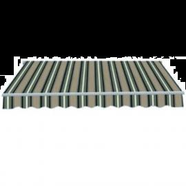Tenda da Sole a Caduta per Balcone Frangivento e Parasole in PU 300x250 Verde e Grigio