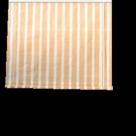 Tenda da Sole da Balcone con Rullo Design Rigato Bianco e Beige per Terrazza Patio - 240x300