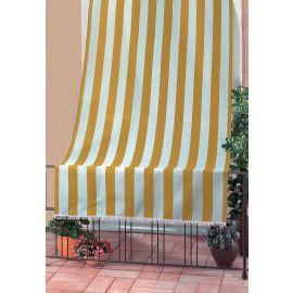 Tenda da Sole per Balcone Terrazza Design Rigato 100% Poliestere 140x250h Gialla
