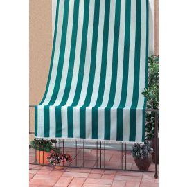 Tenda da Sole per Balcone Terrazza Design Rigato 100% Poliestere 140x250h Verde