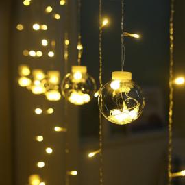 Tenda Luminosa da Esterno e Interno LED 3 Metri Prolungabile 8 Giochi di Luce