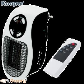 Termoventilatore Mini Stufa Elettrico con Telecomando 500 W con Timer da Parete 2 Velocità