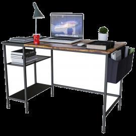 Scrivania Salvaspazio per Ufficio e Cameretta in Legno Design Industriale 120x60x75h